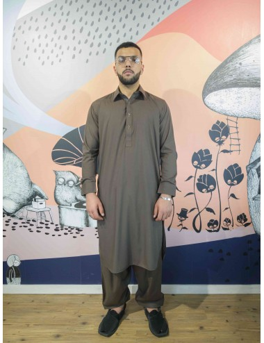 Shalwar Kameez - Chocolate brown