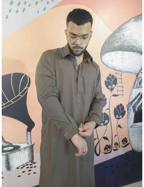 Shalwar Kameez - Chocolate brown