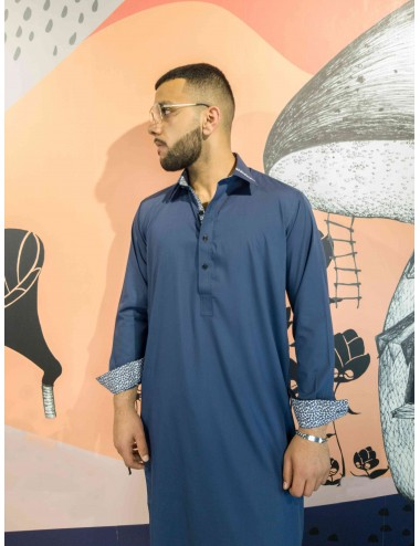 Shalwar Kameez - Double Blue Stitching