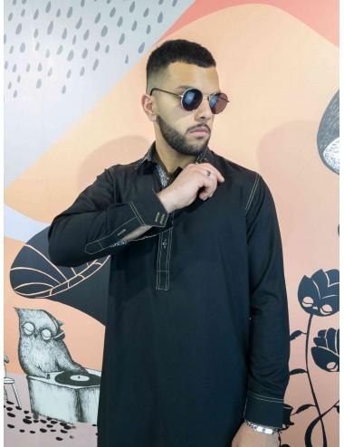 Shalwar Kameez - Khaki Double Stitch