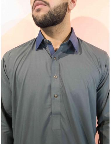 Shlwar Kameez - Jeans Collar