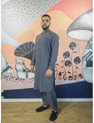 Shalwar Kameez - Mouse Brown