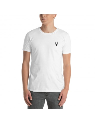 Short-Sleeve Embroidery Mens T-shirt